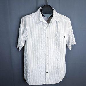 Marmot Shirt Size Medium Tan Mens Button Front